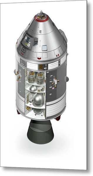 Apollo Command Service Module Metal Print