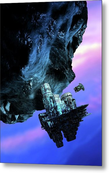 Asteroid Mining Metal Print by Victor Habbick Visions/science Photo Library
