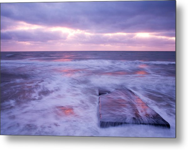 Ballyconnigar Strand At Dawn Metal Print