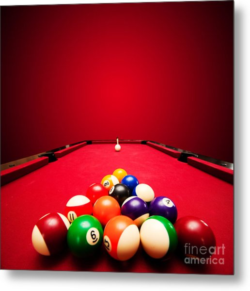 Billards Pool Game Metal Print