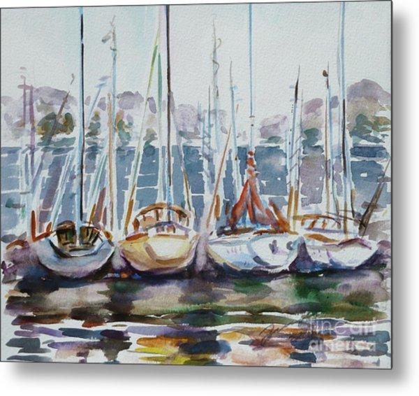 4 Boats Metal Print