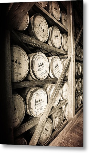 Bourbon Barrels Metal Print
