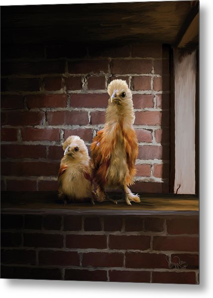 4. Brick Chicks Metal Print