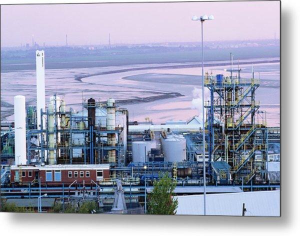 Chemical Factory Metal Print