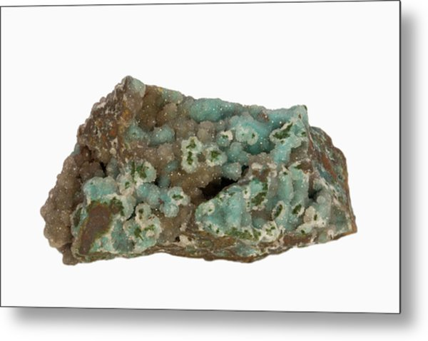 Chrysocolla Metal Print by Science Stock Photography/science Photo Library