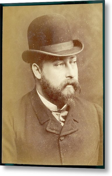 Edward Vii, British Royalty As Prince Metal Print by Mary Evans Picture Library