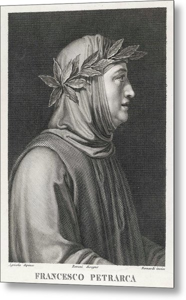 Francesco Petrarch  Italian Poet Metal Print by Mary Evans Picture Library