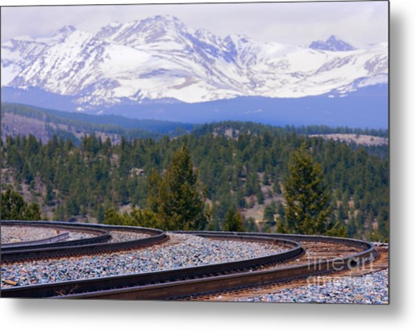 Freight On The Divide Metal Print