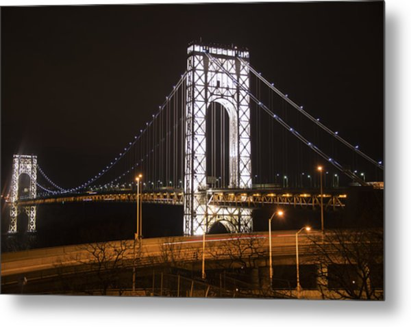 George Washington Bridge On President's Day Metal Print