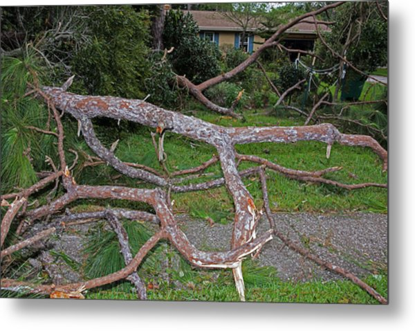 Hurricane Irma Residential Storm Damage Metal Print by Millard H. Sharp