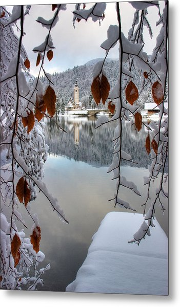 Lake Bohinj In Winter Metal Print