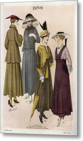Le Costume Royal 1915 1910s Usa  Cc Metal Print by The Advertising Archives