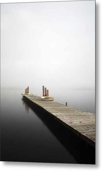 Loch Lomond Jetty Metal Print