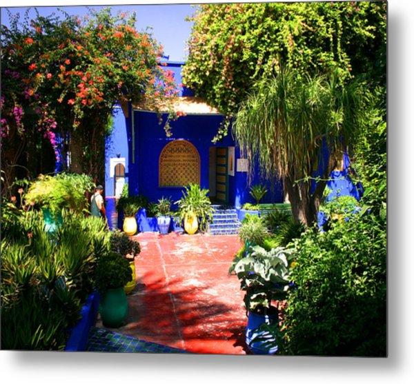 Majorelle Garden Marrakesh Morocco Metal Print by PIXELS  XPOSED Ralph A Ledergerber Photography