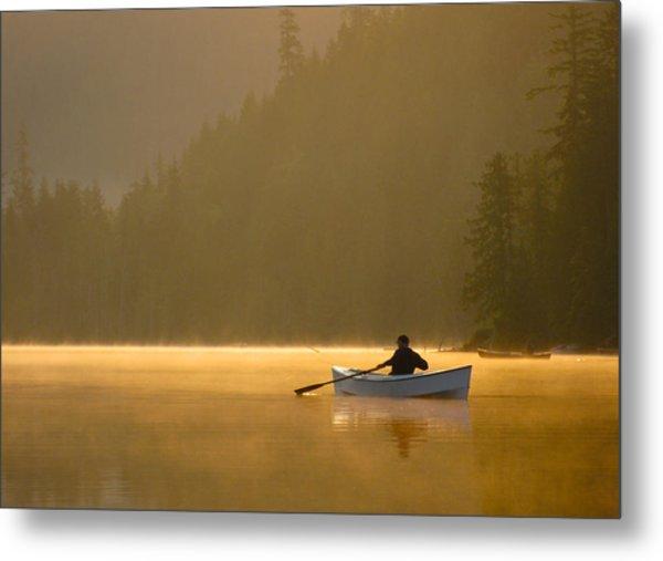 Morning Mist On The Lake Metal Print