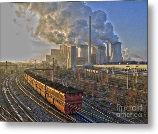 Neurath Power Station Germany Metal Print by David Davies