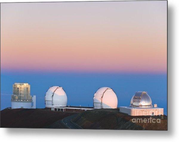 Observatories On Summit Of Mauna Kea Metal Print