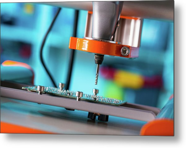 Printed Circuit Board Processing Metal Print by Wladimir Bulgar