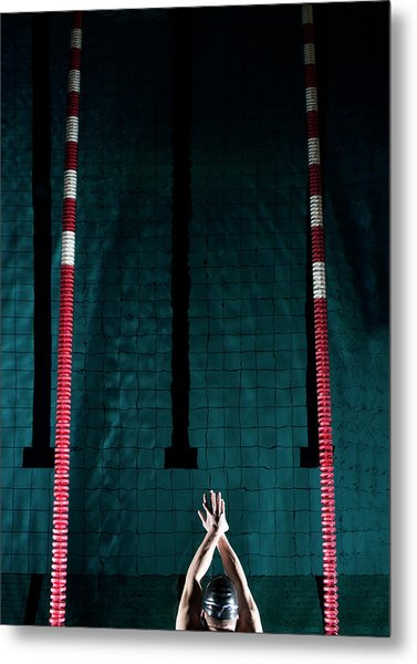 Professional Swimmer Metal Print
