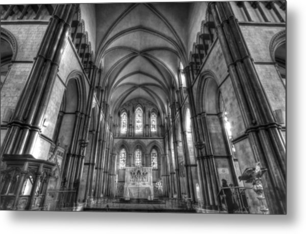 Rochester Cathedral Interior Hdr. Metal Print