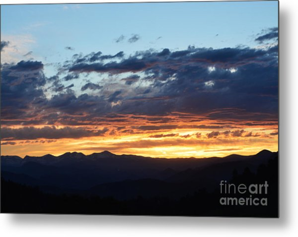 Metal Print featuring the photograph Rocky Mountain Sunset by Kate Avery