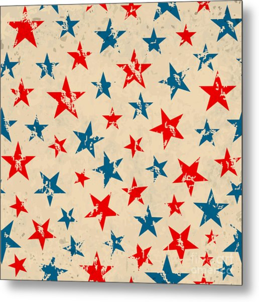 Seamless Pattern For 4th Of July Metal Print by Allies Interactive