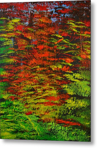 4 Seasons Fall Metal Print