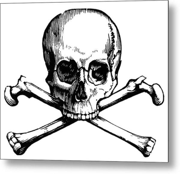 Skull And Crossbones Metal Print by Granger