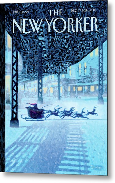 New Yorker December 19th, 2011 Metal Print