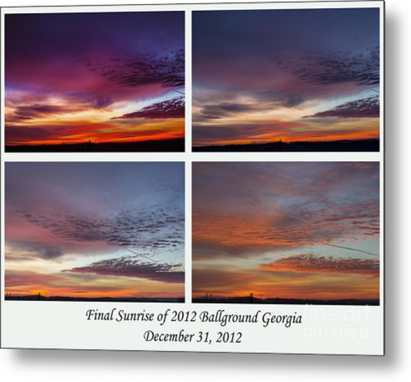 4 Views Of Sunrise Metal Print