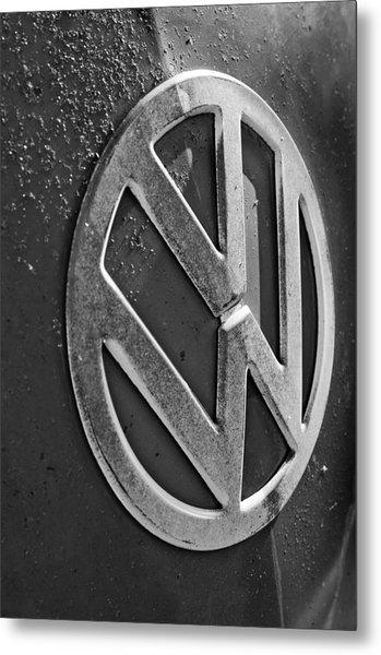 Volkswagen Vw Bus Front Emblem Metal Print