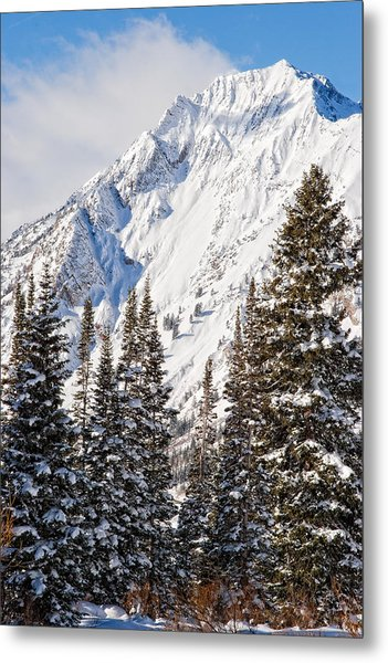 Wasatch Mountains In Winter Metal Print