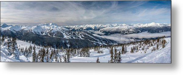 Whistler Mountain Peak View From Blackcomb Metal Print
