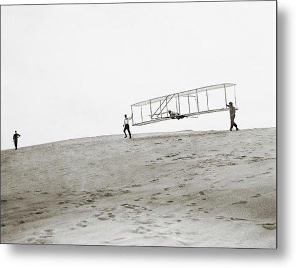 Wright Brothers Kitty Hawk Glider Metal Print