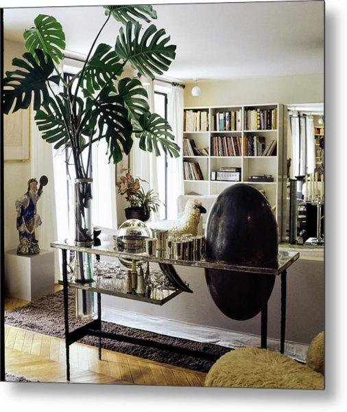 Yves Saint Laurent's Living Room Metal Print
