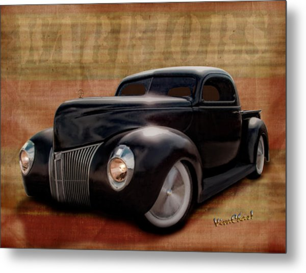 40 Ford Pickup Warriors Metal Print