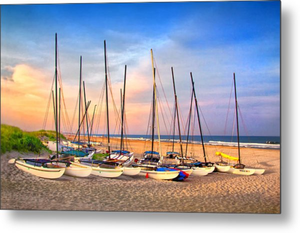 41st Street Sailing Beach Metal Print