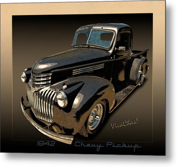 42 Chevy Pickup Rat Rod Metal Print