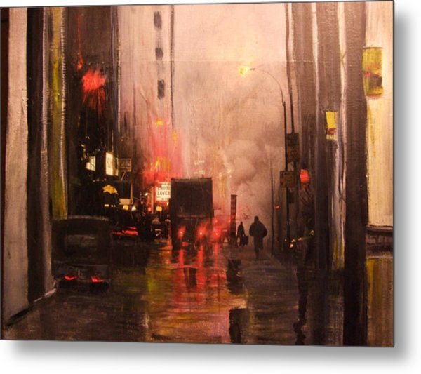 42nd And Broadway Ny Ny Metal Print