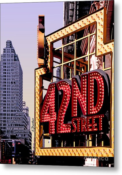 42nd Street New York City Metal Print by Linda  Parker