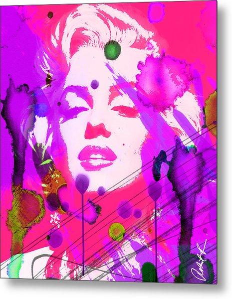 43x48 Marilyn Pretty In Pink - Huge Signed Art Abstract Paintings Modern Www.splashyartist.com Metal Print