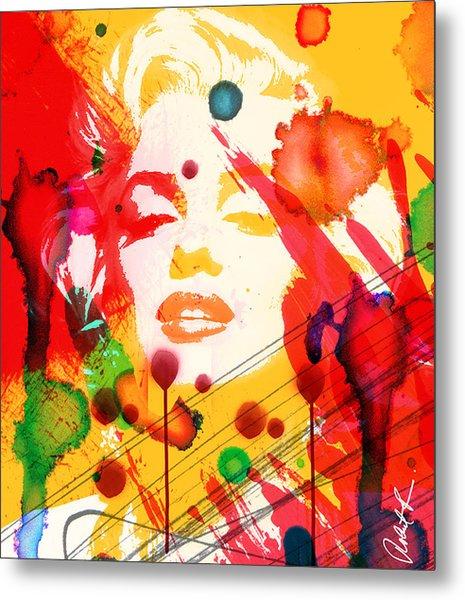 43x48 Who Shot Marilyn - Huge Signed Art Abstract Paintings Modern Www.splashyartist.com Metal Print