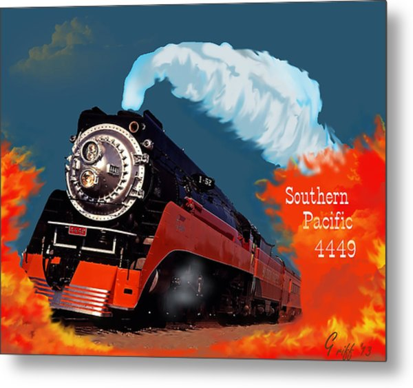4449 Through The Fire Graphic Metal Print