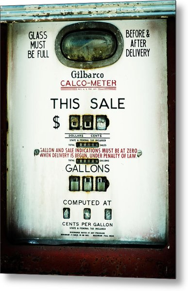 45 Cents Per Gallon Metal Print