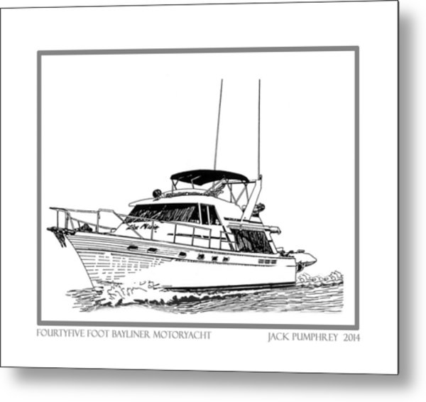 Bayliner 4550 Motoryacht Metal Print