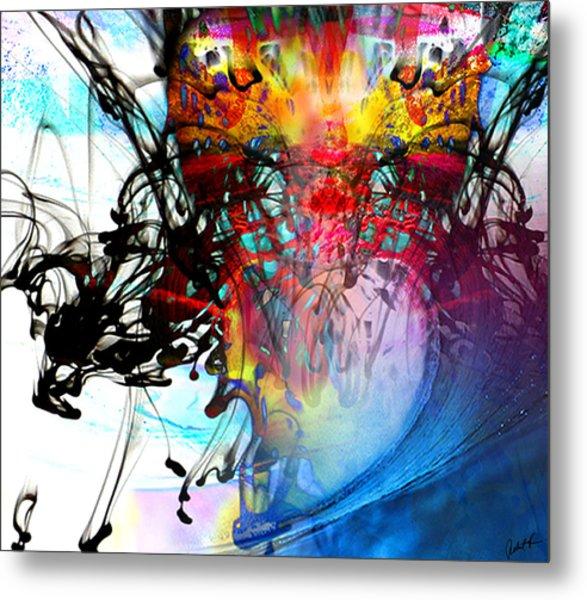 48x41 The Scream 2012 Blue Ocean Wave - - Signed Art Abstract Paintings Modern Www.splashyartist.com Metal Print