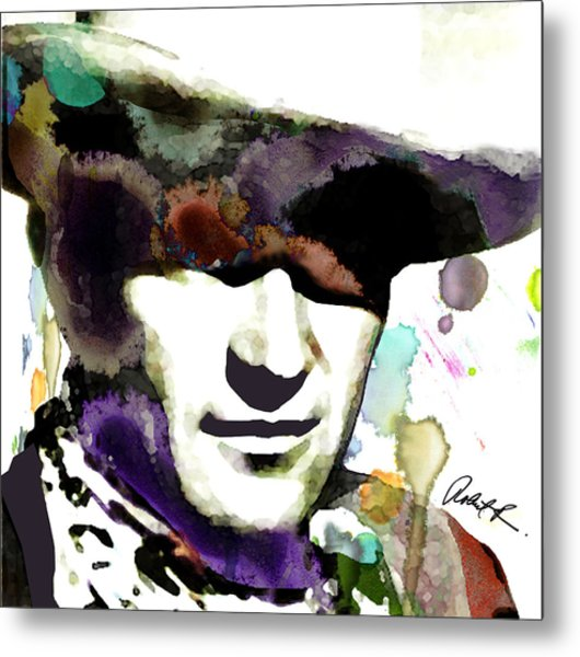 48x46 Huge John Wayne - Signed Art Abstract Paintings Modern Www.splashyartist.com Metal Print