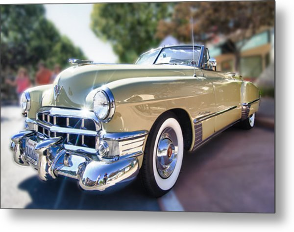 49 Cadillac Convertible Metal Print by Robert Rus