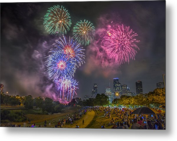 4th Of July In Houston Texas Metal Print
