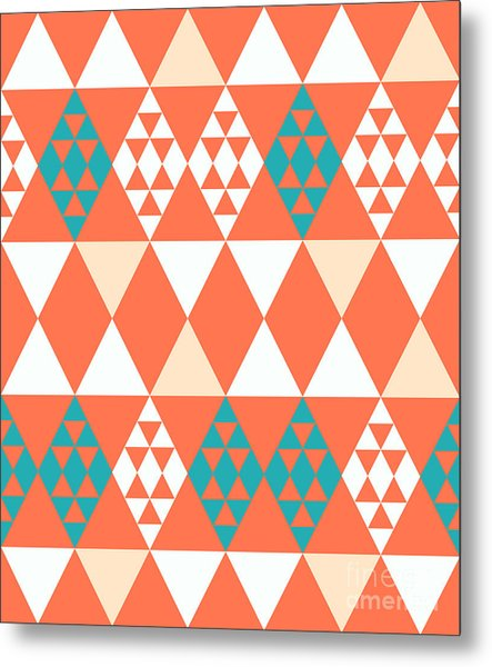 Abstract Retro Pattern. Vector Metal Print